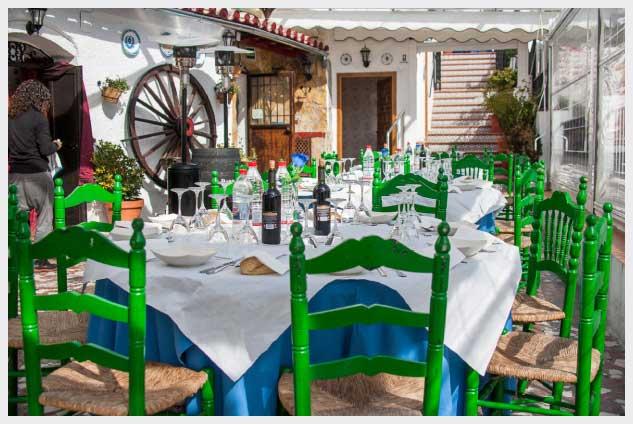 cueva de la Rocío terraza restaurante flamenco