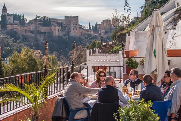 Dîner avec vues sur l'Alhambra